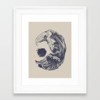 huebucket Framed Art Prints featuring Swell by Huebucket