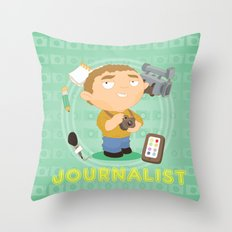 Journalist Throw Pillow