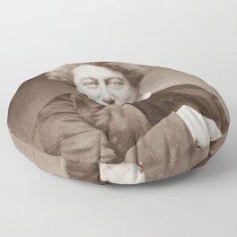 Alexandre Dumas Portrait Floor Pillow