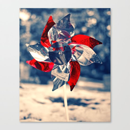 Winter whirligig Canvas Print