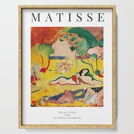 The Joy of Life - Henri Matisse - Exhibition Poster Poster Serving Tray