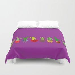 Cactus in Purple Duvet Cover