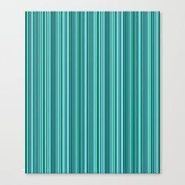 Turquoise striped . Canvas Print
