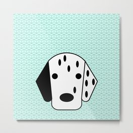 Pop Dog Dalmatian Metal Print