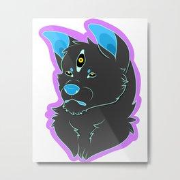 Spoopy Doggo Metal Print