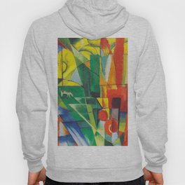 "Franz Marc ""Landscape with House and Two Cows (also known as Landscape with House, Dog and Cattle)"" Hoody"