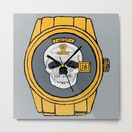 Skull Rolex Metal Print