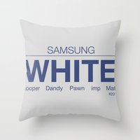 samsung Throw Pillows featuring Samsung White League of Legends by Thomas Official