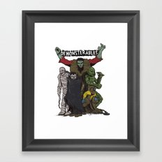 The Demonsterables Framed Art Print
