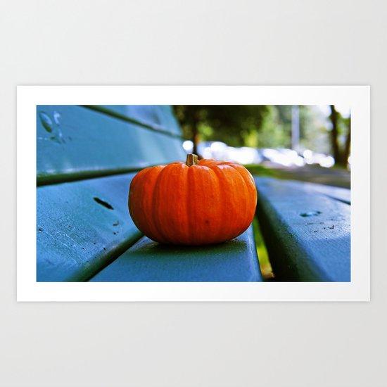 Park pumpkin Art Print