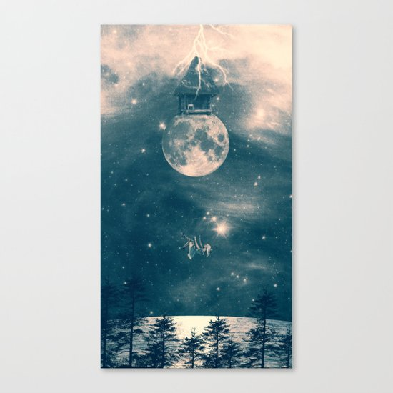 One Day I Fell from My Moon Cottage... Canvas Print