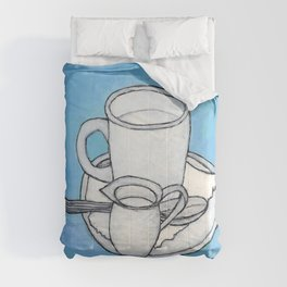 coffee and spoon Comforters