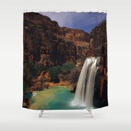 Havusu Falls at Night Shower Curtain