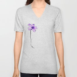 Purple bloom Unisex V-Neck