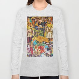 History of Mexico by Diego Rivera Long Sleeve T-shirt