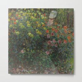 "Claude Monet ""Ladies in Flowers"" Metal Print"