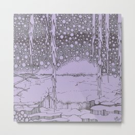 Twilight Snowfall Metal Print