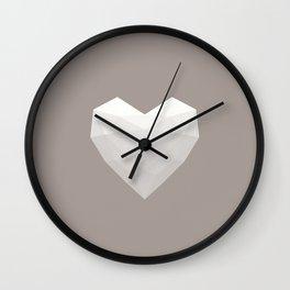 Modern Love - White on Grey Wall Clock