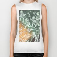 kids Biker Tanks featuring kids by Shelby Claire