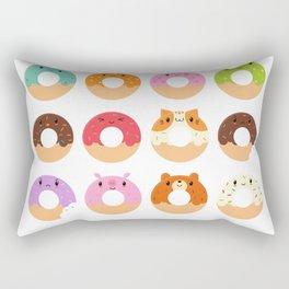 Happy Doughnuts Rectangular Pillow