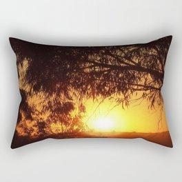 Sunset Silhouettes | Beautiful Nature Rectangular Pillow