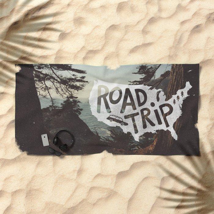 Road Trip USA - big sur Beach Towel