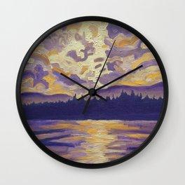 Okanagan Landscape in Purple and Hansa Wall Clock