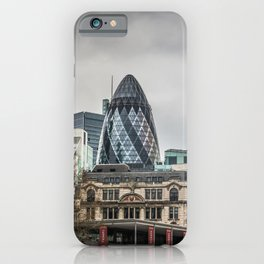 The Gherkin and Port of London Authority Building London Skyline iPhone Case