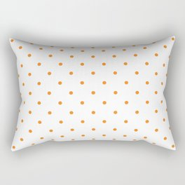 Small Orange Polka Dots Rectangular Pillow