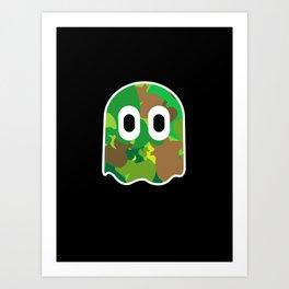 Camo Blinky Art Print