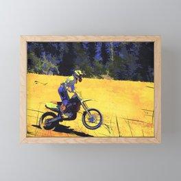 Riding Hard - Moto-x Champ Framed Mini Art Print
