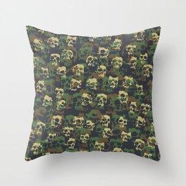 Skull Camo WOODLAND Throw Pillow