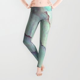 IRIDISCENT SEASHELL MINT by Monika Strigel Leggings
