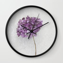Purple Hydrangea Wall Clock