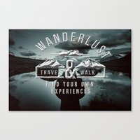 wanderlust Canvas Prints featuring Wanderlust by UtArt
