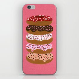 Stacked Donuts on Cherry iPhone Skin