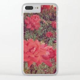 Vintage Rose Garden Clear iPhone Case