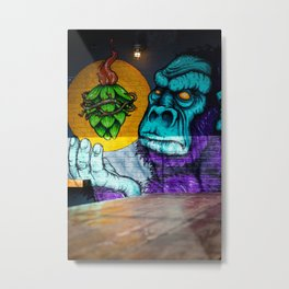 Urban Gorilla Graffiti Art Metal Print