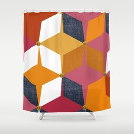 KALEIDOSCOPE 02 #HARLEQUIN Shower Curtain