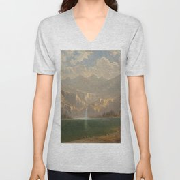 'In Yosemite on a Summer's Day' landscape painting by Gilbert Munger Unisex V-Neck