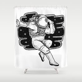Space Dance Shower Curtain