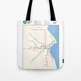 Milwaukee Transit System Map Tote Bag