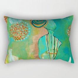 """Wish Believe"" Original Painting by Flora Bowley Rectangular Pillow"