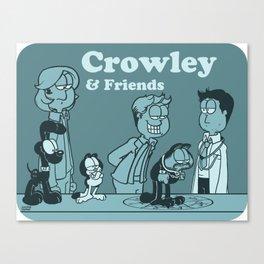 Crowley & Friends - Supernatural Canvas Print