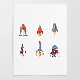 Space Rockets Poster