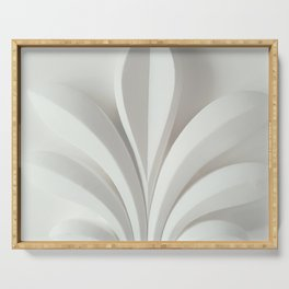 White sculpture Serving Tray