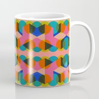 60s Mugs featuring Geometric 60s by Lilly Marfy
