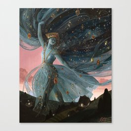 The Veil of Night Canvas Print