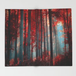 Magical trees Throw Blanket