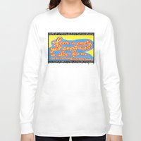 buddhism Long Sleeve T-shirts featuring Buddhism words of Bodhisattva Avaloketeshvara painted and lettered by Sasso by ART to GO Sasso